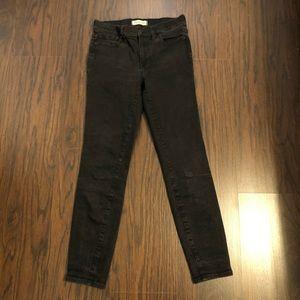 Madewell Jeans Stone black high riser skinny leg